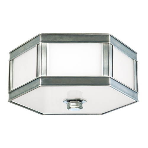 Hudson Valley Lighting Flushmount Light with White Glass in Historic Nickel Finish 6416-HN