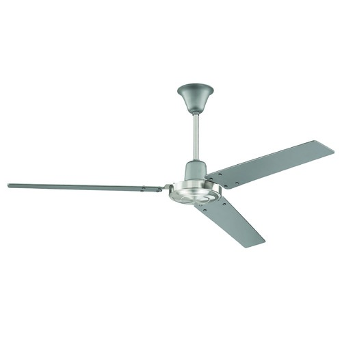 Craftmade Lighting Craftmade Lighting Utility Titanium-Brushed Polished Nickel Ceiling Fan Without Light UT56TBNK3M