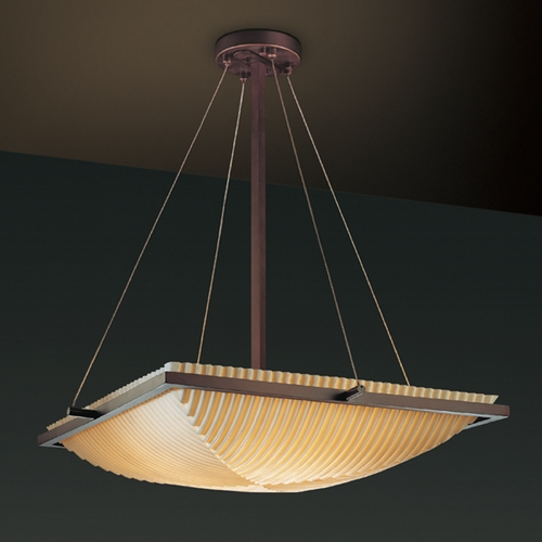 Justice Design Group Justice Design Group Porcelina Collection Pendant Light PNA-9791-25-PLET-DBRZ
