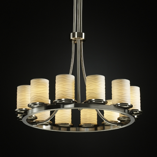 Justice Design Group Justice Design Group Limoges Collection Chandelier POR-8763-10-WAVE-NCKL
