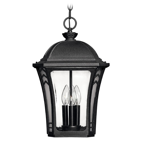 Hinkley Lighting Outdoor Hanging Light with Clear Glass in Museum Black Finish 1332MB