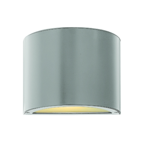 Hinkley Lighting Modern Outdoor Wall Light with Etched in Titanium Finish 1667TT