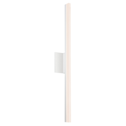 Sonneman Lighting Stiletto LED Satin White LED Bathroom Light - Vertical Mounting Only 2342.03-DIM