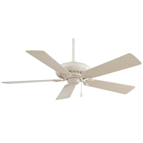 Minka Aire Minka Aire Fans Supra 52 Bone White Ceiling Fan Without Light F568-BWH