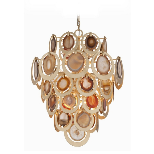 Corbett Lighting Corbett Lighting Rock Star Gold Leaf Pendant Light 190-410