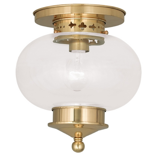 Livex Lighting Livex Lighting Harbor Polished Brass Close To Ceiling Light 5032-02