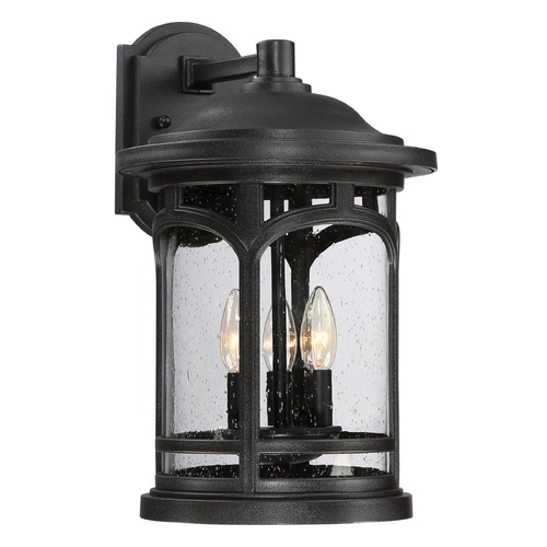 Quoizel Lighting Quoizel Marblehead Mystic Black Outdoor Wall Light MBH8411K