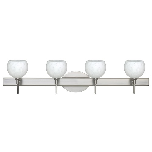 Besa Lighting Besa Lighting Palla Satin Nickel LED Bathroom Light 4SW-565819-LED-SN