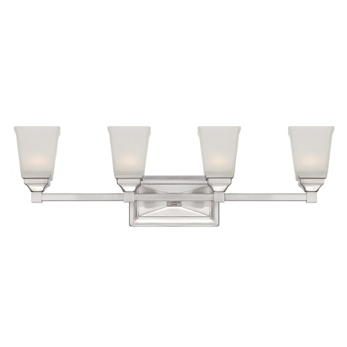 Designers Fountain Lighting Designers Fountain Trenton Satin Platinum LED Bathroom Light LED67804-SP