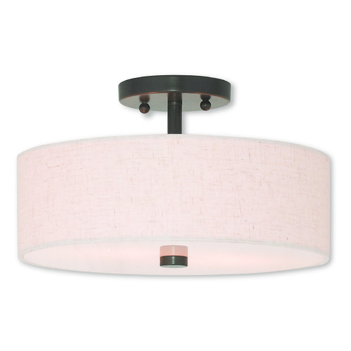 Livex Lighting Livex Lighting Meridian English Bronze Semi-Flushmount Light 52134-92