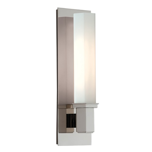 Hudson Valley Lighting Bathroom Light with White Glass in Polished Nickel Finish 320-PN