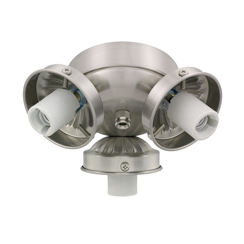 Monte Carlo Fans Light Kit in Brushed Steel Finish H3BS-L