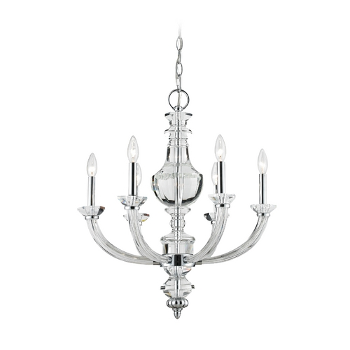 Elk Lighting Chandelier in Polished Chrome Finish 44005/6