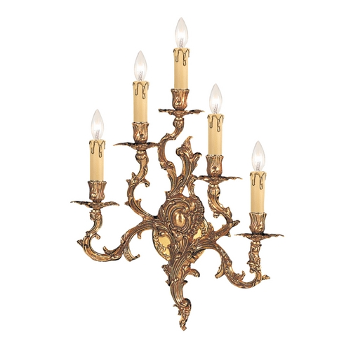 Crystorama Lighting Sconce Wall Light in Olde Brass Finish 705-OB