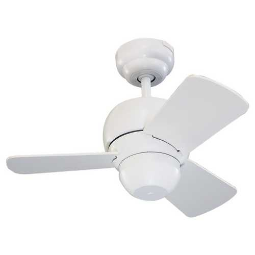 Monte Carlo Fans White Convertible Compact 24-Inch Ceiling Fan with Three Blades 3TF24WH