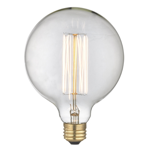 Design Classics Lighting Vintage Edison G40 Globe Light Bulb - 60-Watts 60G40  FILAMENT
