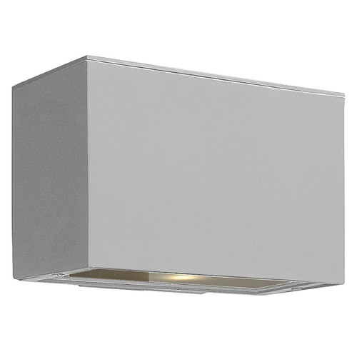 Hinkley Lighting Modern Outdoor Wall Light with Etched in Titanium Finish 1646TT