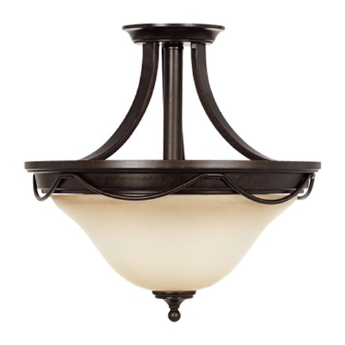 Sea Gull Lighting Sea Gull Lighting Park West Burnt Sienna Semi-Flushmount Light 77497-710