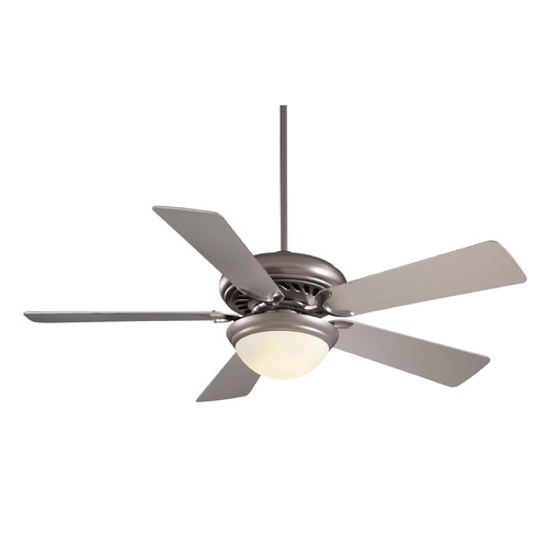 Minka Aire 52-Inch Minka Aire Fans Supra 52 Brushed Steel Ceiling Fan with Light F569-BS