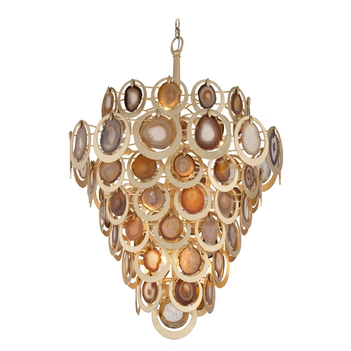 Corbett Lighting Corbett Lighting Rock Star Gold Leaf Pendant Light 190-416