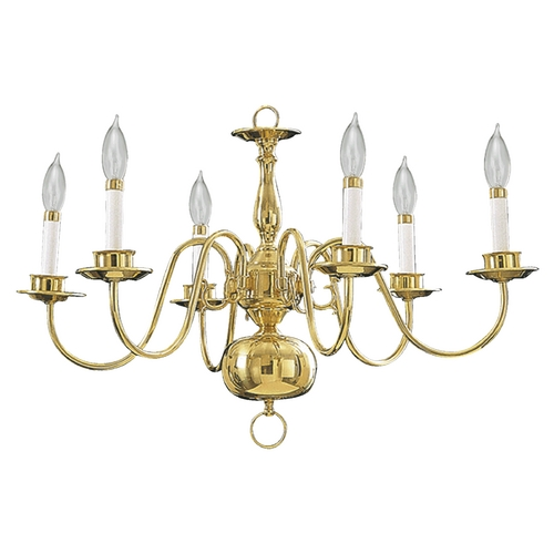 Quorum Lighting Quorum Lighting Polished Brass Chandelier 6171-6-2