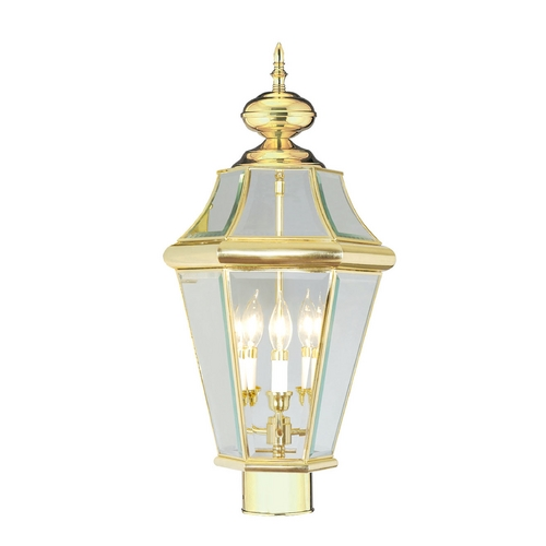 Livex Lighting Livex Lighting Georgetown Polished Brass Post Light 2364-02