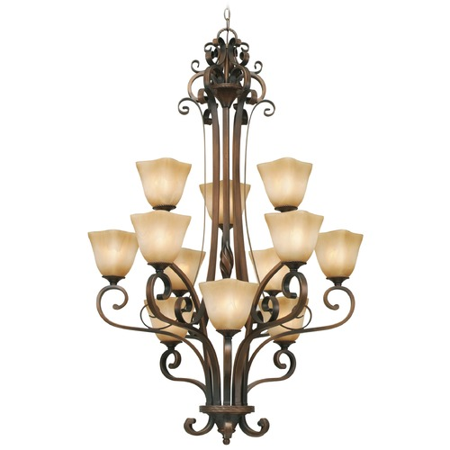 Golden Lighting Golden Lighting Meridian Golden Bronze Chandelier 3890-363 GB