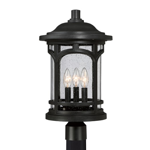 Quoizel Lighting Quoizel Marblehead Mystic Black Post Light MBH9011K
