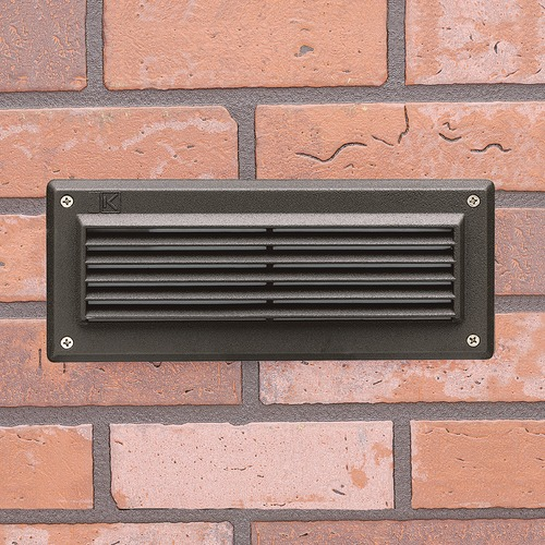 Kichler Lighting Kichler Lighting Landscape LED Textured Architectural Bronze LED Recessed Deck Light 15773AZT30R