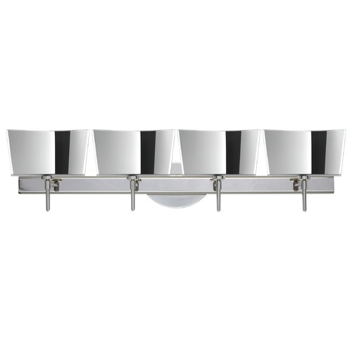 Besa Lighting Besa Lighting Groove Frosted Glass Chrome LED Bathroom Light 4SW-6773MR-LED-CR