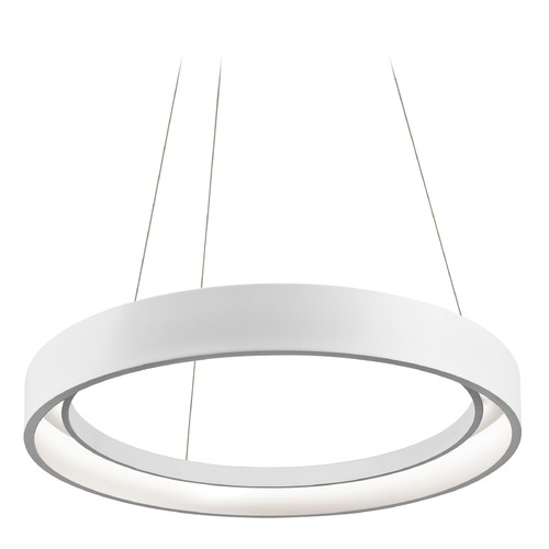 Elan Lighting Elan Lighting Fornello Sand Textured White LED Pendant Light 83454