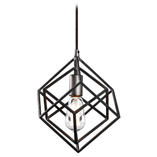 Matteo Lighting Matteo Lighting Geometry Series Rusty Black Pendant Light C54621RB