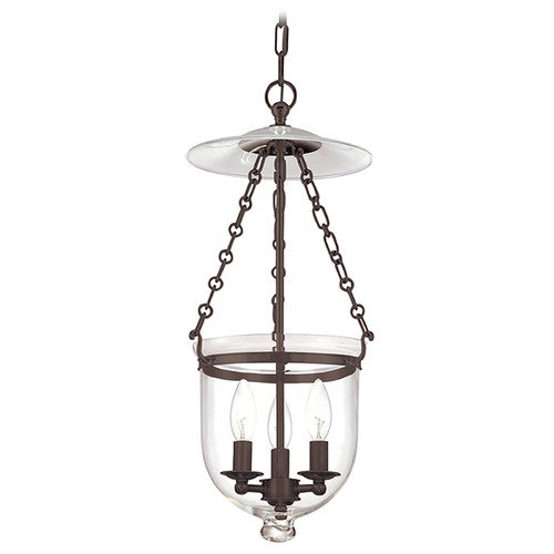 Hudson Valley Lighting Pendant Light with Clear Glass in Old Bronze Finish 252-OB-C1