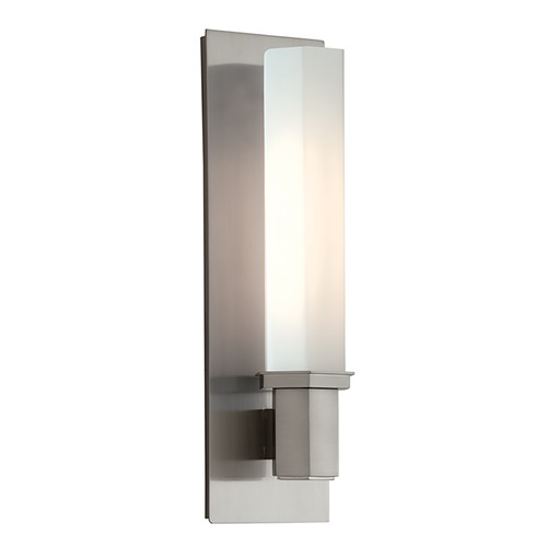 Hudson Valley Lighting Bathroom Light with White Glass in Satin Nickel Finish 320-SN