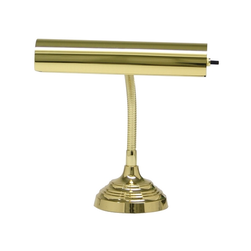 House of Troy Lighting Piano / Banker Lamp in Polished Brass Finish P10-130