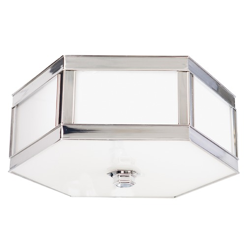 Hudson Valley Lighting Flushmount Light with White Glass in Polished Nickel Finish 6416-PN