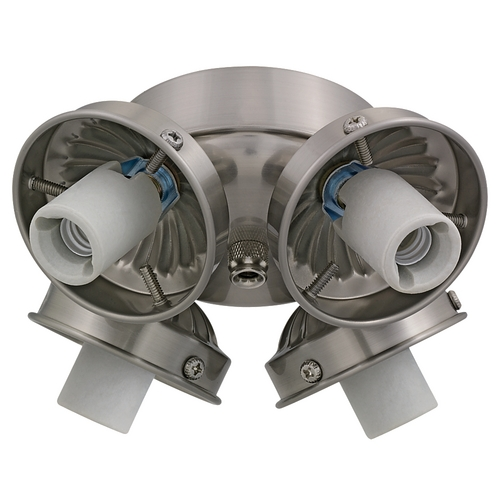 Monte Carlo Fans Light Kit in Brushed Steel Finish H4BS-L