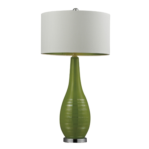 Dimond Lighting Table Lamp in Lime Green with White Drum Shade D272