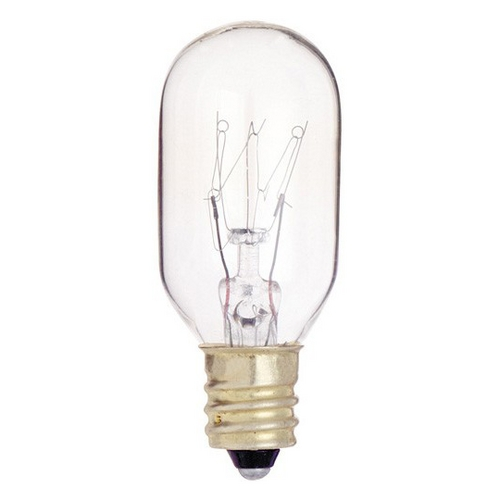Satco Lighting Clear 25-Watt T8 Incandescent Candelabra Light Bulb S3907