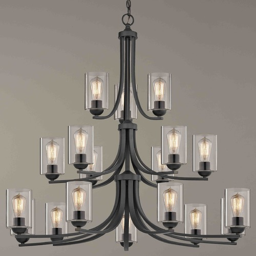 Design Classics Lighting Design Classics Dalton Fuse Neuvelle Bronze Chandelier 5863-220 GL1040C