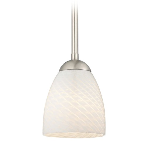 Design Classics Lighting Design Classics Gala Fuse Satin Nickel LED Mini-Pendant Light with Bell Shade 681-09 GL1020MB