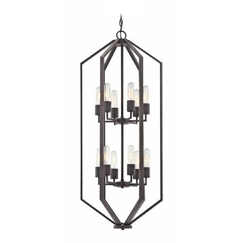 Dolan Designs Lighting Hexagon 12-Light Chandelier- Bronze Finish 1143-78