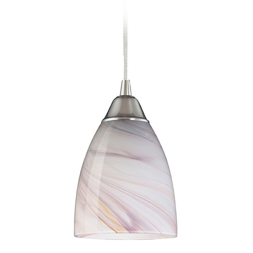 Elk Lighting Elk Lighting Pierra Satin Nickel LED Mini-Pendant Light with Bowl / Dome Shade 527-1CR-LED