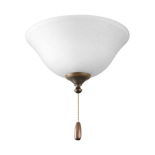 Progress Lighting Progress Light Kit with Alabaster Glass in Antique Bronze Finish P2612-20