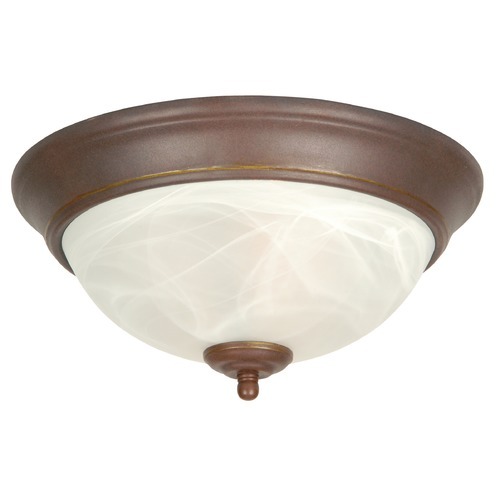 Jeremiah Lighting Jeremiah Aged Bronze Flushmount Light X215-AG