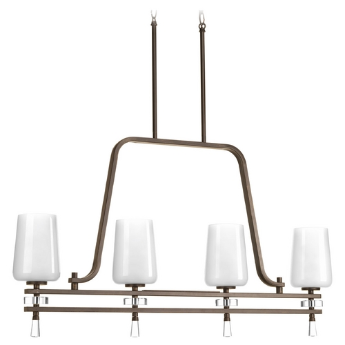 Progress Lighting Progress Lighting Indulge Antique Bronze Island Light with Cylindrical Shade P4188-20