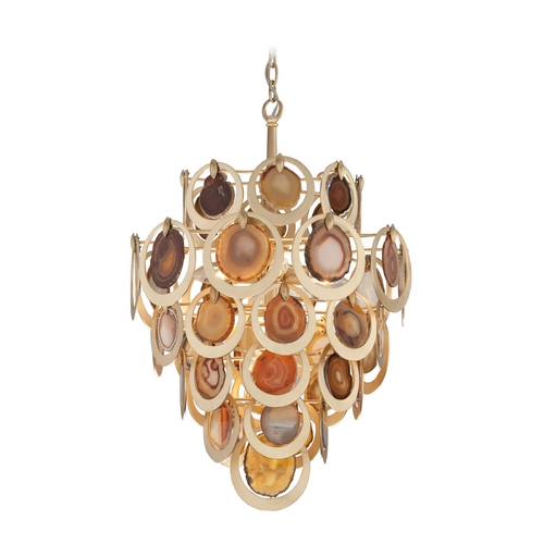 Corbett Lighting Corbett Lighting Rock Star Gold Leaf Pendant Light 190-46