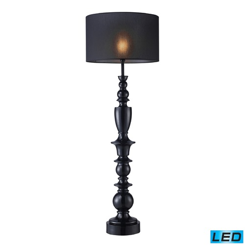 Dimond Lighting Dimond Lighting Gloss Black LED Table Lamp with Drum Shade D1469-LED