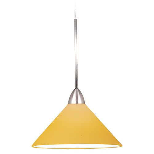 WAC Lighting Wac Lighting Contemporary Collection Chrome LED Mini-Pendant with Conical Shade MP-LED512-AM/CH