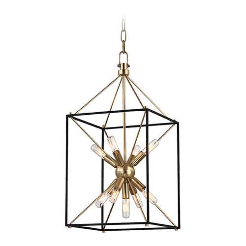 Hudson Valley Lighting Hudson Valley Lighting Glendale Aged Brass Pendant Light 8912-AGB